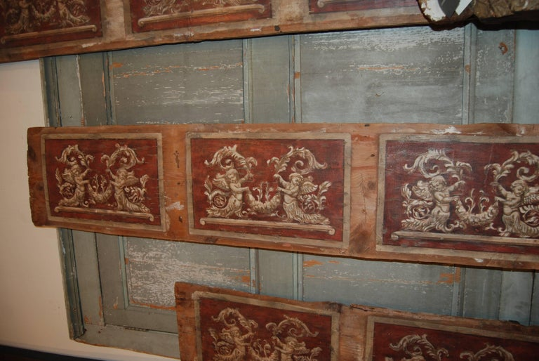 Set of Four 18th Century Architectural Venetian Boiserie Panels 3