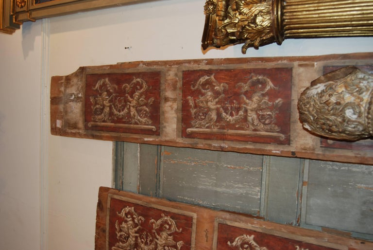 Set of Four 18th Century Architectural Venetian Boiserie Panels 4
