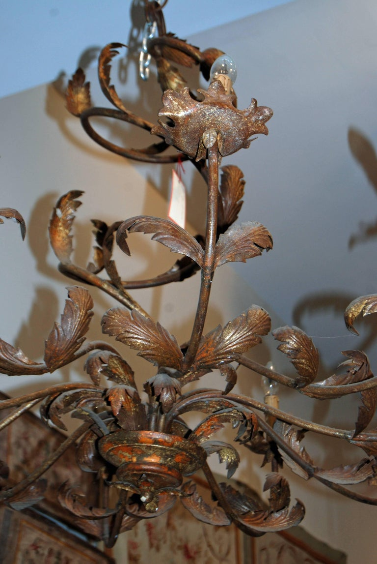 Pair of Belle Epoch Iron Chandeliers 2