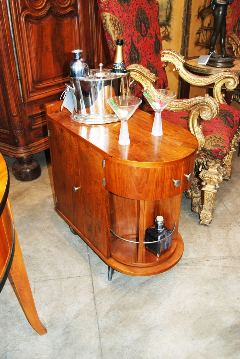 20th Century Wonderful Mid-Century French Bar Cart For Sale