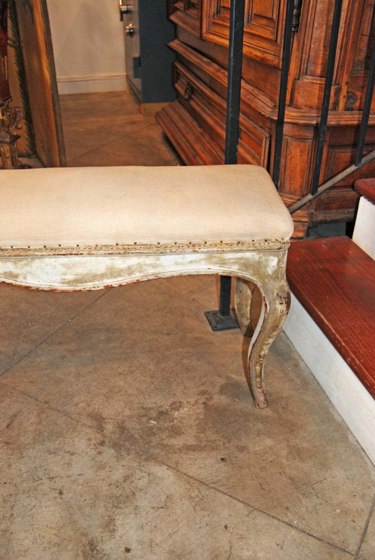 19th Century Gilded and Carved Bench 2