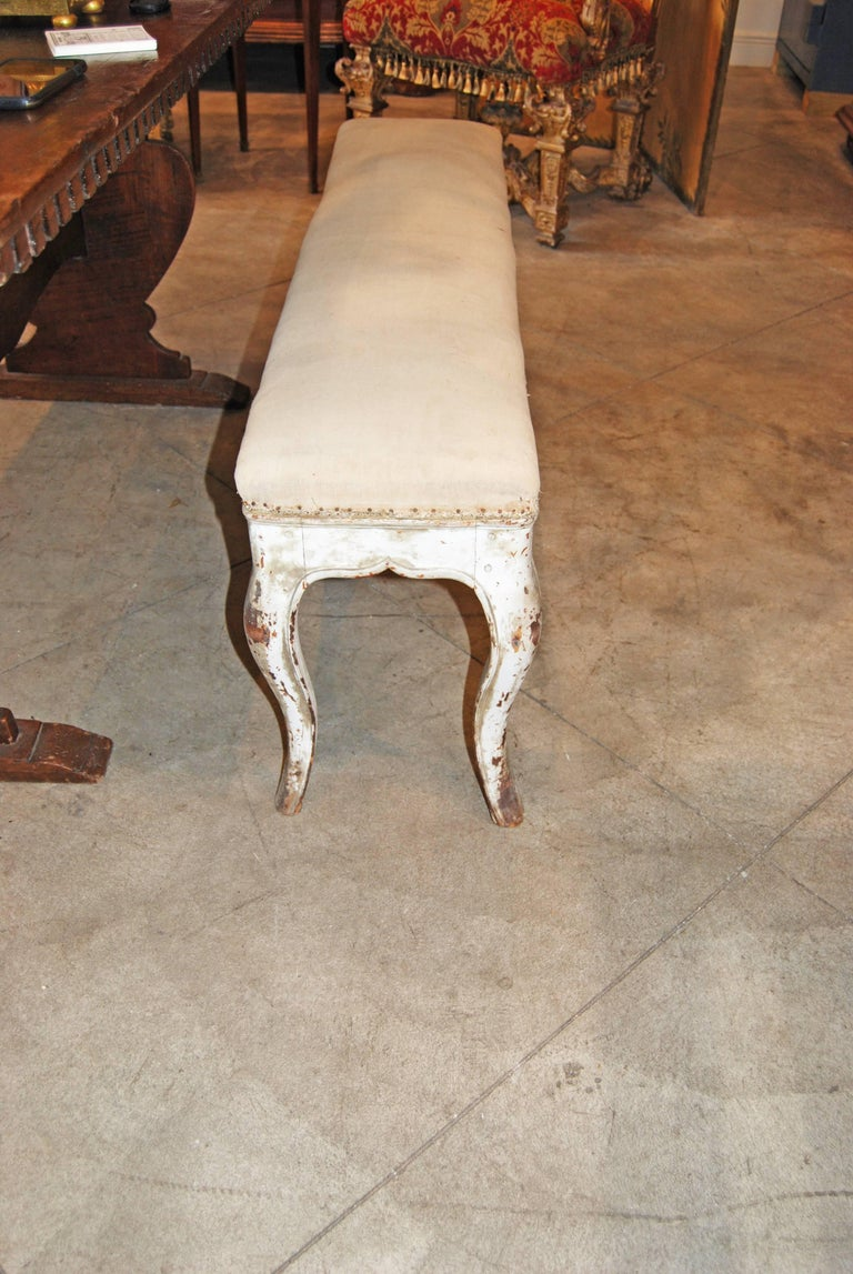French 19th Century Gilded and Carved Bench For Sale
