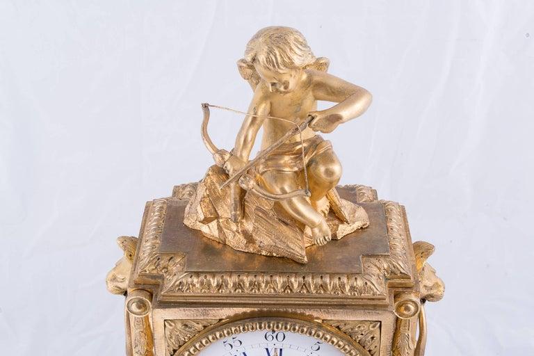 Fine Napoleon III Bronze Dore Clock 2