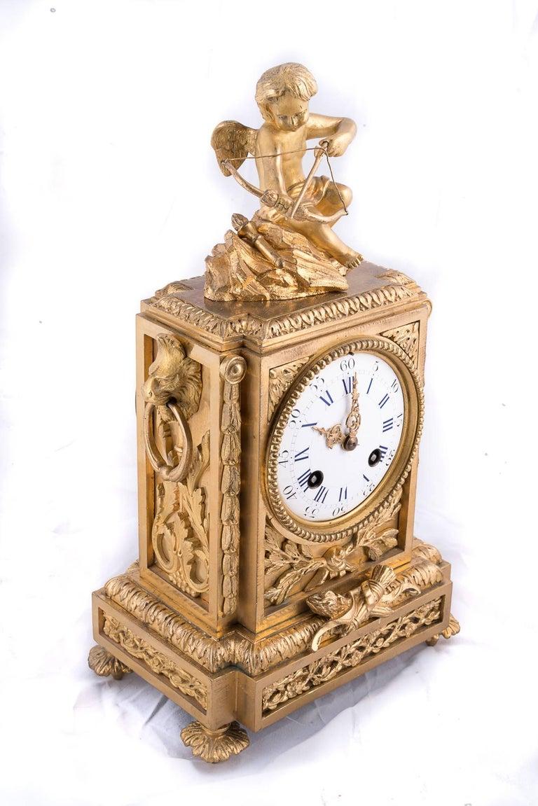 Fine Napoleon III Bronze Dore Clock 4