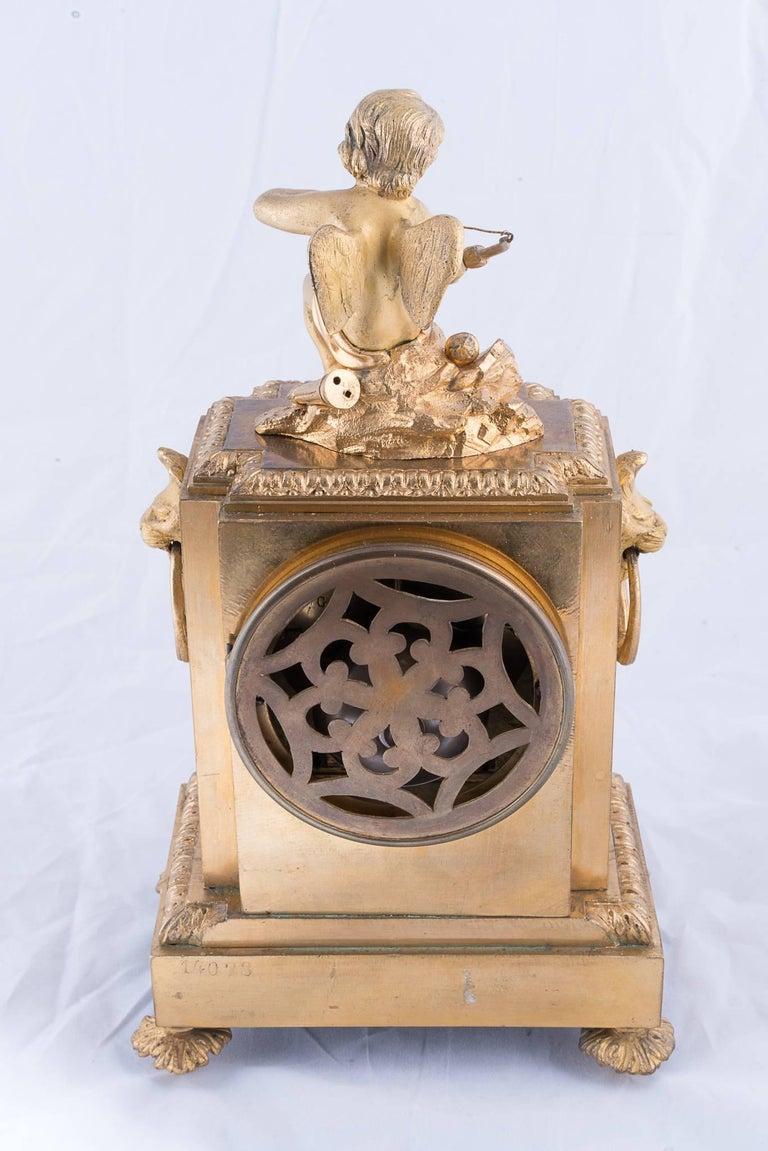 Fine Napoleon III Bronze Dore Clock 5