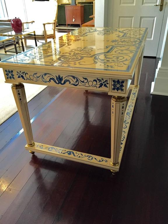 """Italian Writing Table Desk in """"French Ivory"""" 7"""