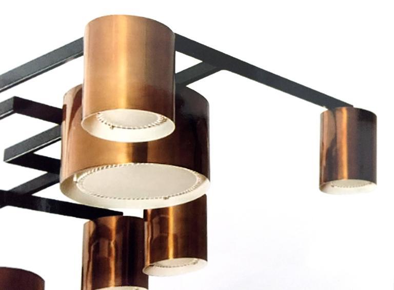 Enormous Ten-Light Ceiling Fixture Chandelier by Diego Mardegan  2