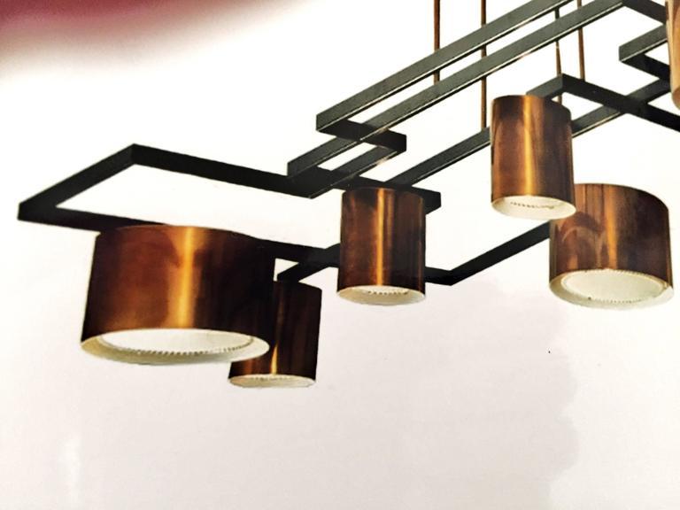 Enormous Ten-Light Ceiling Fixture Chandelier by Diego Mardegan  3