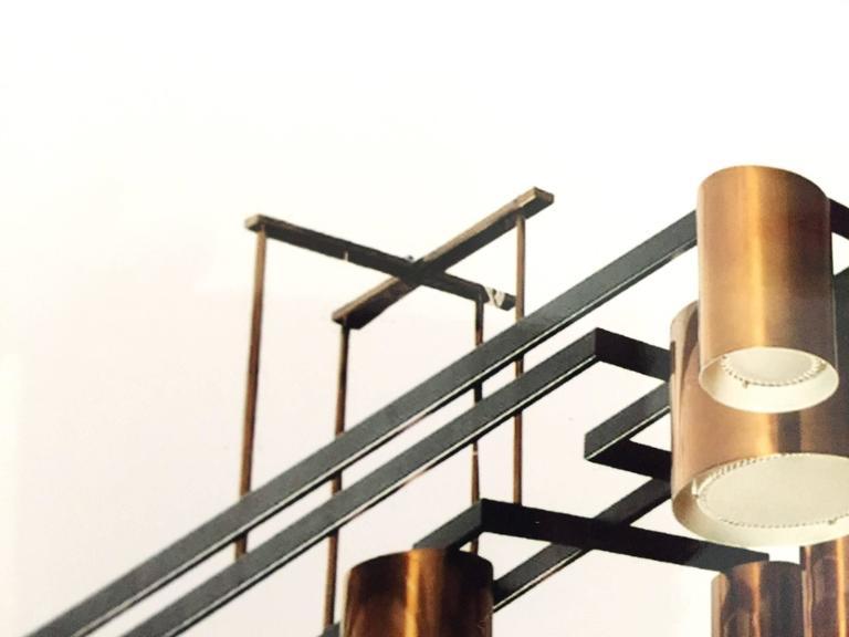 Enormous Ten-Light Ceiling Fixture Chandelier by Diego Mardegan  4
