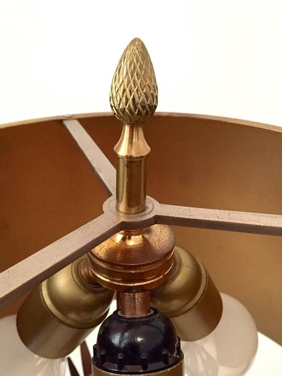 Table Lamp in Steel and Gilt Bronze by Maison Charles 4