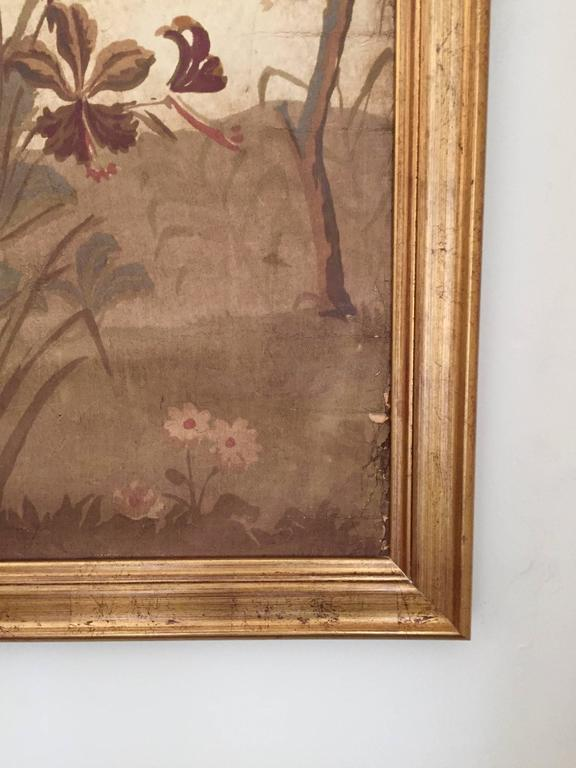 Large Decorative Painted Panel in Gilt Frame 3
