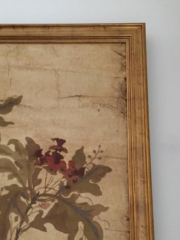 Large Decorative Painted Panel in Gilt Frame 4