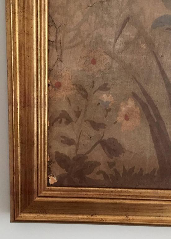 Large Decorative Painted Panel in Gilt Frame 5