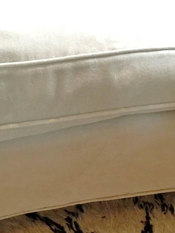 Pair of Small Settees in Cotton Velvet 6
