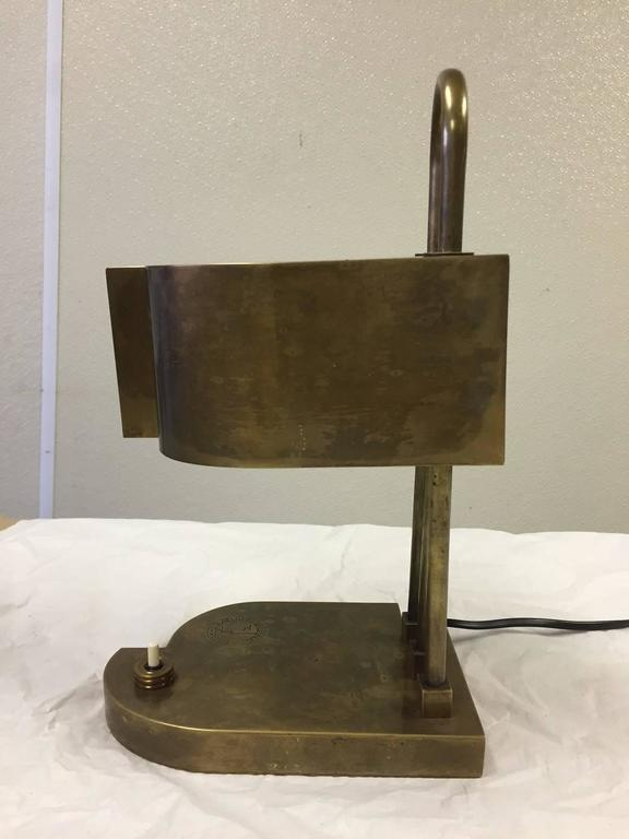 Rare Bauhaus Table Lamp by Marcel Breuer, Marked 2