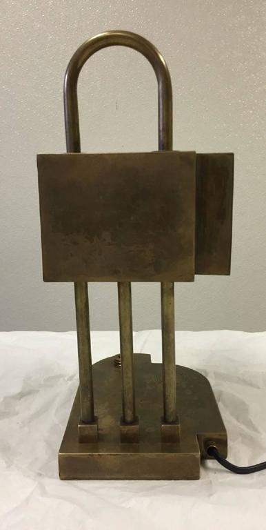 Rare Bauhaus Table Lamp by Marcel Breuer, Marked 3