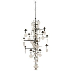 Model 341 Chandelier Designed by Erik Hoglund