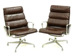 Rare Matched Pair of Lounge Chairs by Charles and Ray Eams, American, 1960s