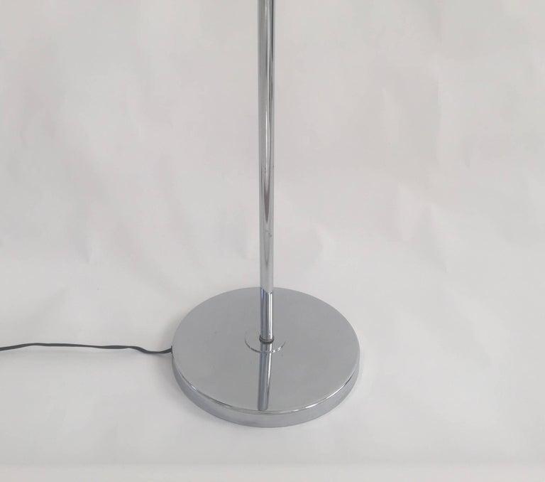 Mid-Century Modern 1970s Modernist Chrome Floor Lamp For Sale