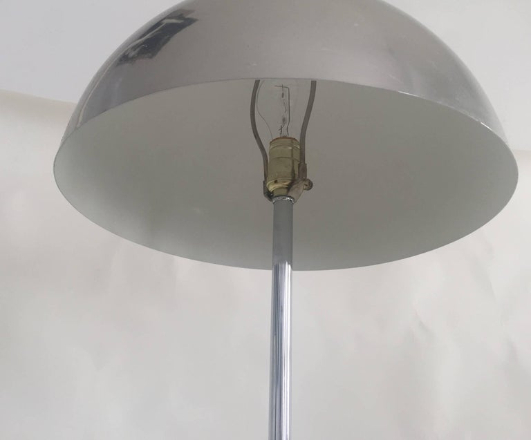 American 1970s Modernist Chrome Floor Lamp For Sale