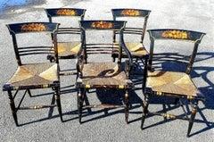 "American Sheraton ""Fancy"" Dining Chairs, New York, circa 1815-1830"