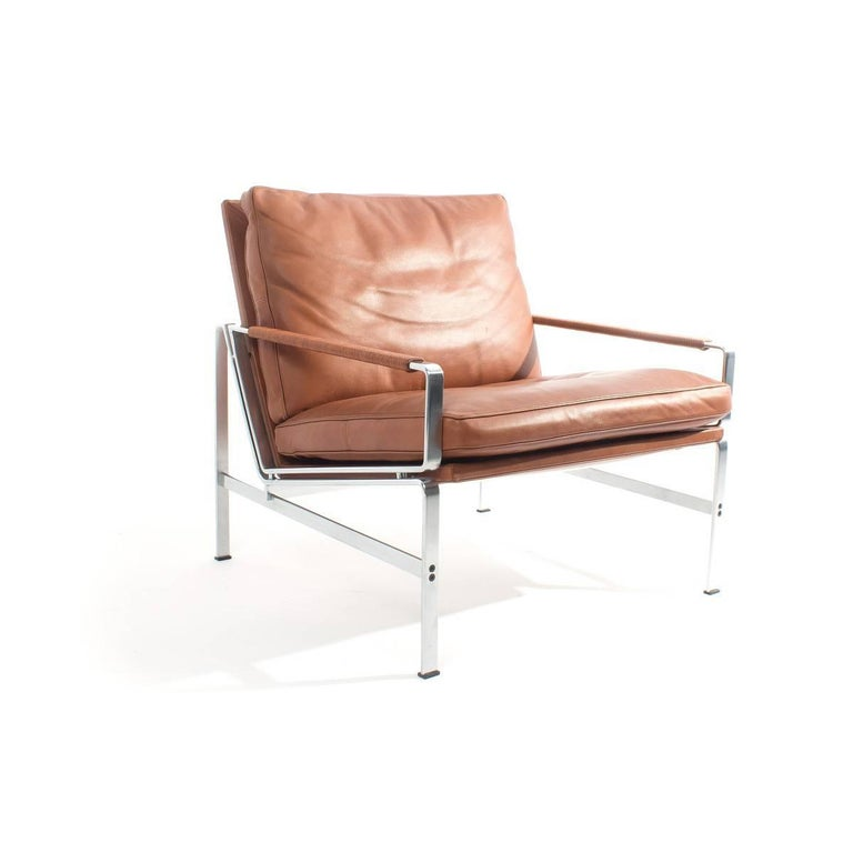 The easy chair was designed in 1965. Today, 40 years later, the steel on the chair is being produced at the same factory by the same producer and with the same tools as back in the sixties. The steel was found at the factory, where the chairs