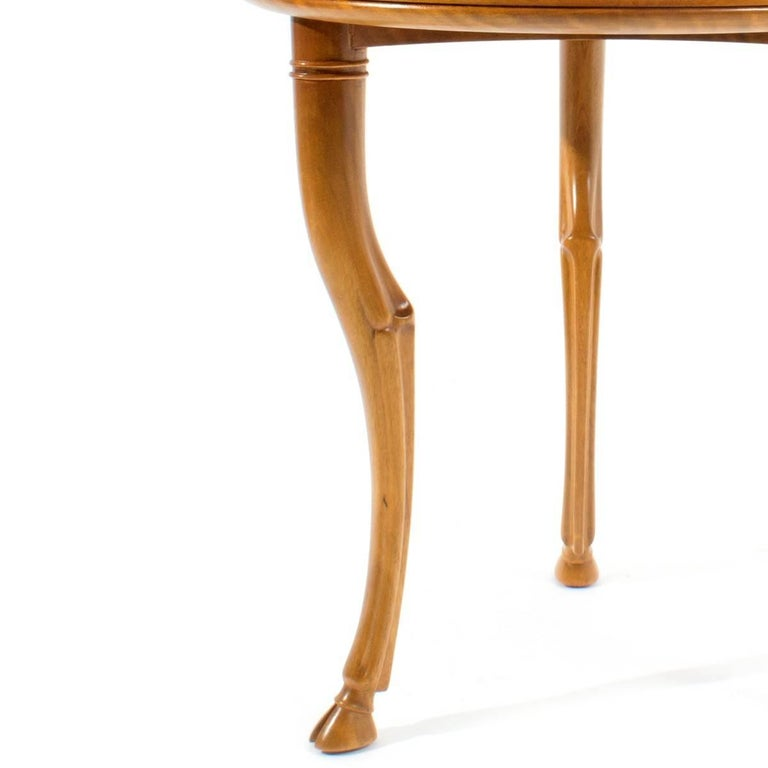 Mid-Century Modern T.H. Robsjohn-Gibbings for Saridis of Athens Circular Trapeza Table For Sale