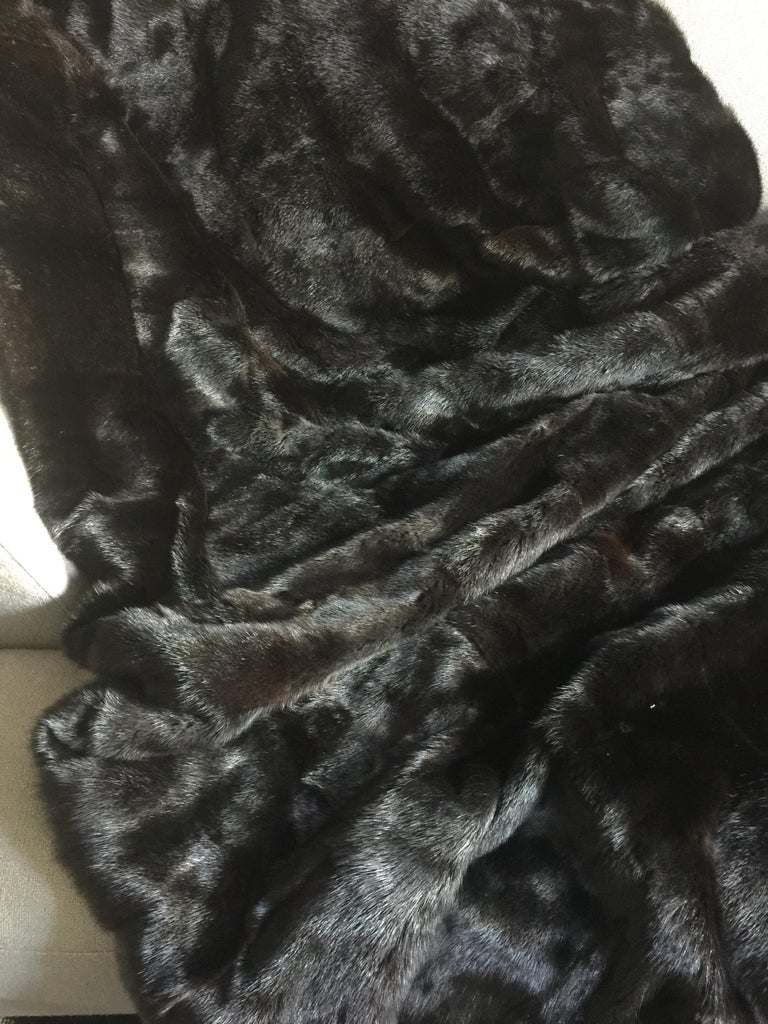 American Luxurious Custom Mink Throw Blanket For Sale