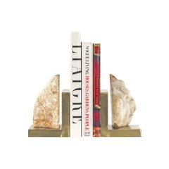 Crystaline Bookends on Brass Stands