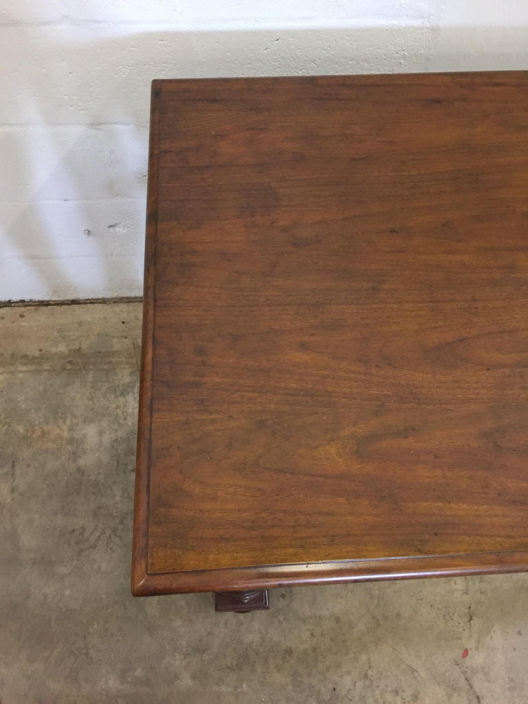 Mid-20th Century Vintage English Walnut Refectory Table For Sale