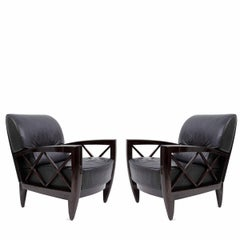 Pair of Pace Collection Venezia Lounge Chairs by Adam Tihany