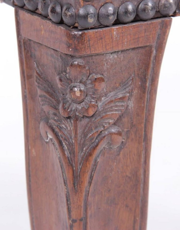 Louis XV Rare 18th Century Carved Walnut Bench from Provence For Sale