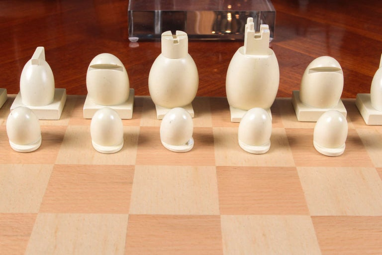 Resin Michael Graves Chess Set, circa 2000 For Sale