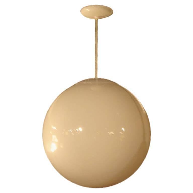 Vintage Style Globe Hanging Lamp Lighting Fixture in Acrylic