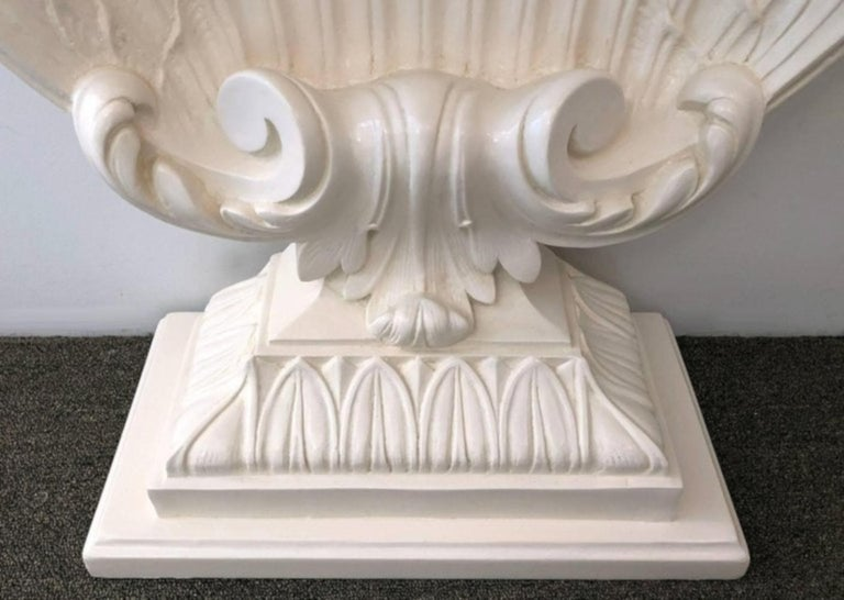 American Pair of Hollywood Regency Shell Form Consoles For Sale