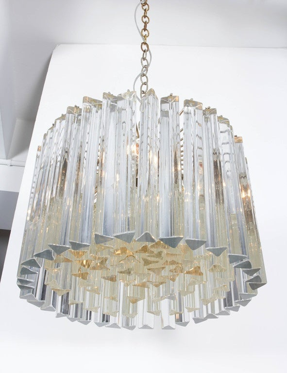 Mid-Century Modern Dramatic Crystal Chandelier by Camer For Sale
