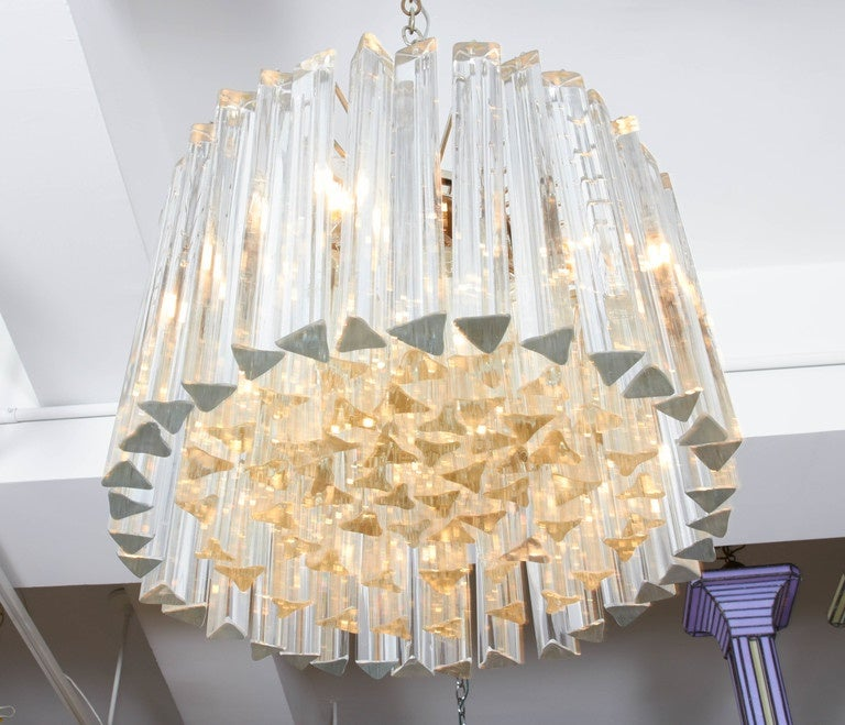 Italian Dramatic Crystal Chandelier by Camer For Sale
