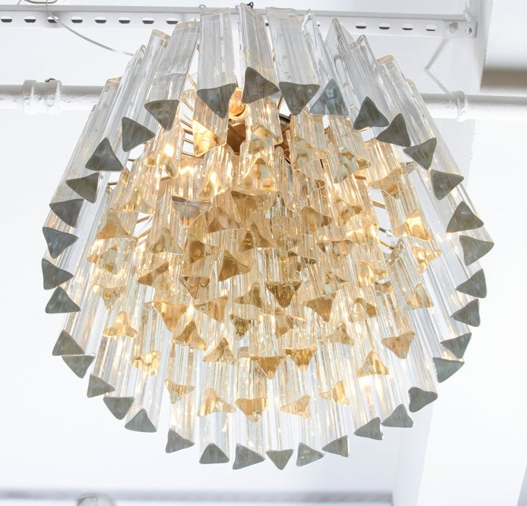 Dramatic Crystal Chandelier by Camer In Excellent Condition For Sale In New York, NY