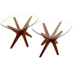 "Mint Condition Pair of Adrian Pearsall ""Jacks"" Tables"
