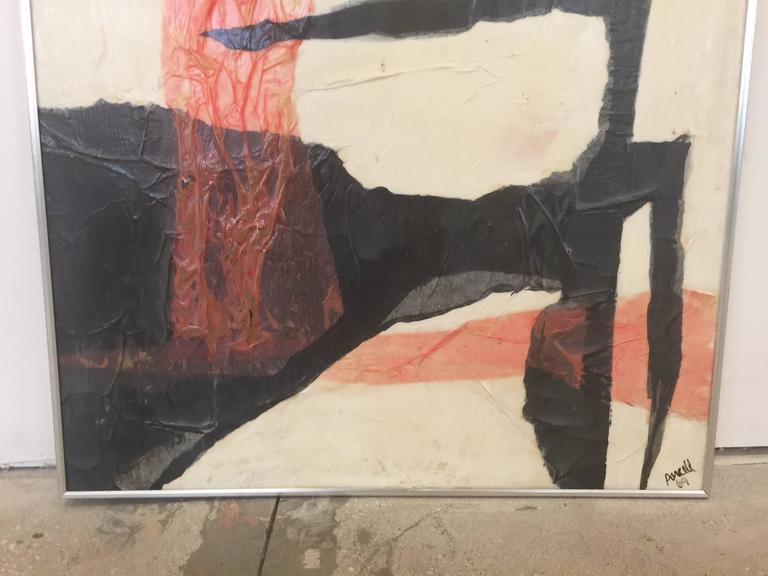 Mid-Century Modern ANN PURCELL Untitled, 1969 Mixed-Media on Panel Collage For Sale