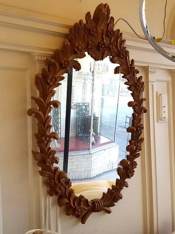 Carved Wood Mirror 2