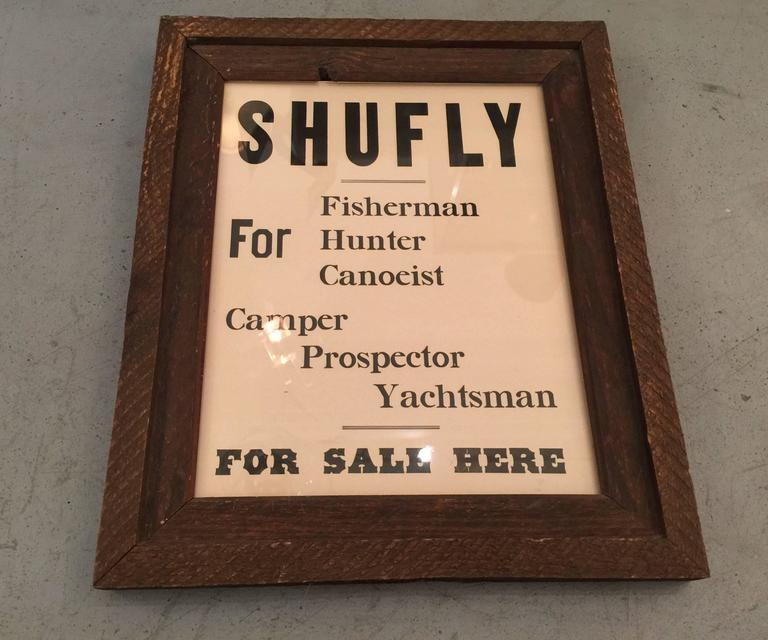 Vintage Framed Shufly Poster 2