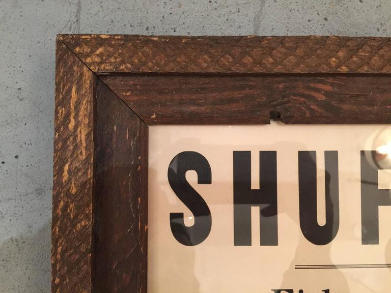 Vintage Framed Shufly Poster 3