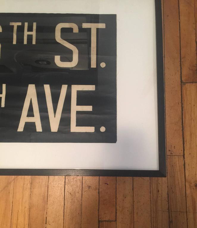 Vintage Framed Subway Sign 3