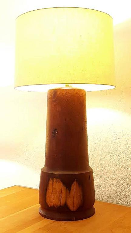 Monumental California Craftsman Walnut Lamp 2