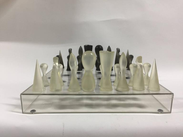 Acrylic black and white chess set by karim rashid at 1stdibs - Karim rashid chess set ...