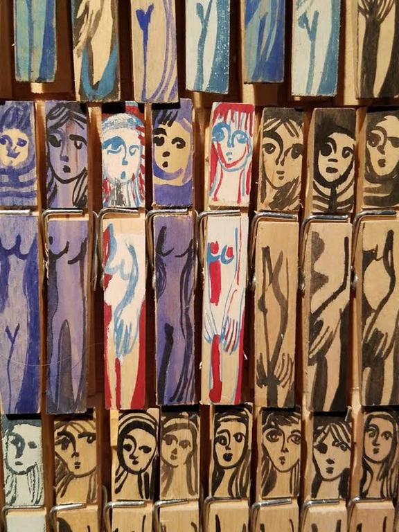 Modern Annie Morris, Untitled Peg Piece, 2010 For Sale