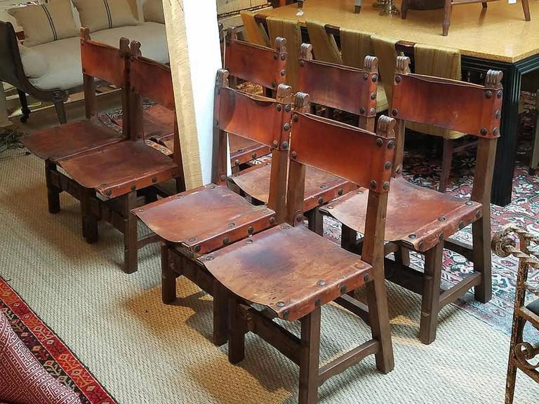 Colonial Dining Room Furniture: Set Of Eight Spanish Colonial Style Dining Chairs At 1stdibs