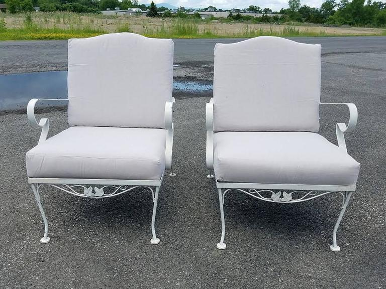 Vintage Three Piece Iron Patio Set By Russell Woodard For Sale 1