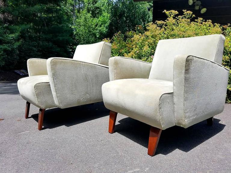 Mid-20th Century Chic Pair of Art Deco Club / Lounge Chairs For Sale